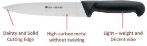 construction of fillet knife